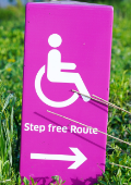 sign signalling step free access