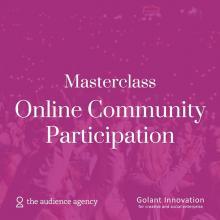 Masterclass Online Community Participation event logo