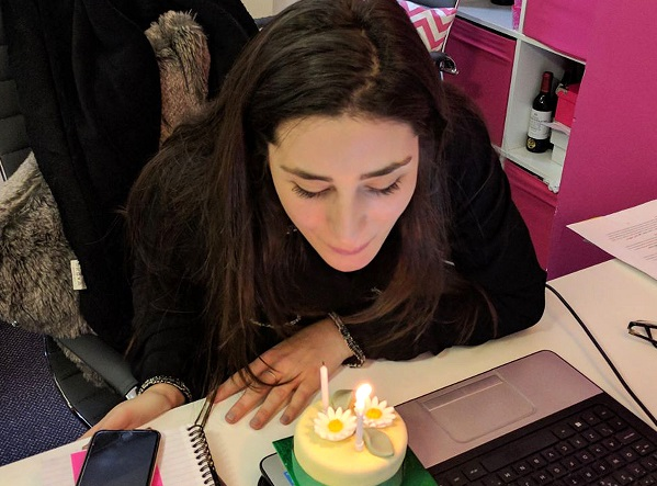 The team is so close-knit that everyone has become great friends – we like to go out for drinks and even have a minibreak once a year. It was Suzie's two-year review today, so a birthday cake was essential. Whenever we have a company milestone we love to celebrate.